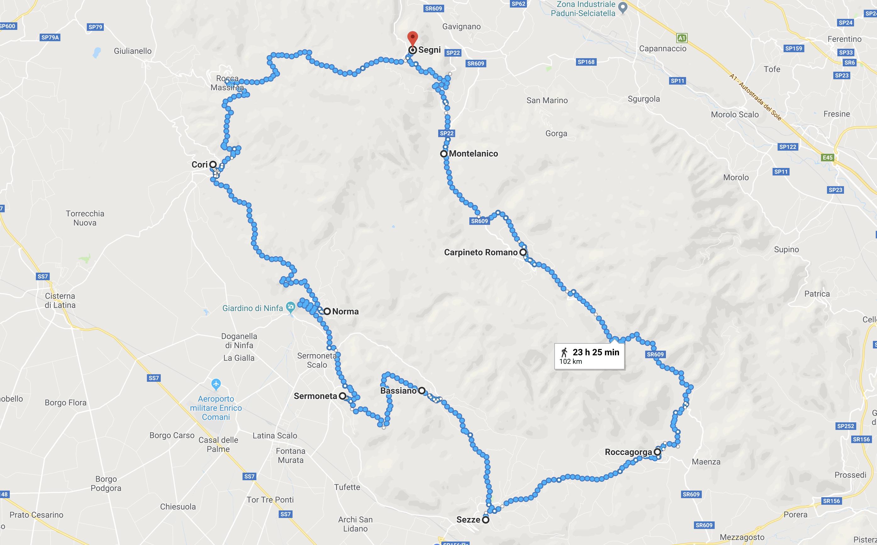 Itinerario sui Monti Lepini